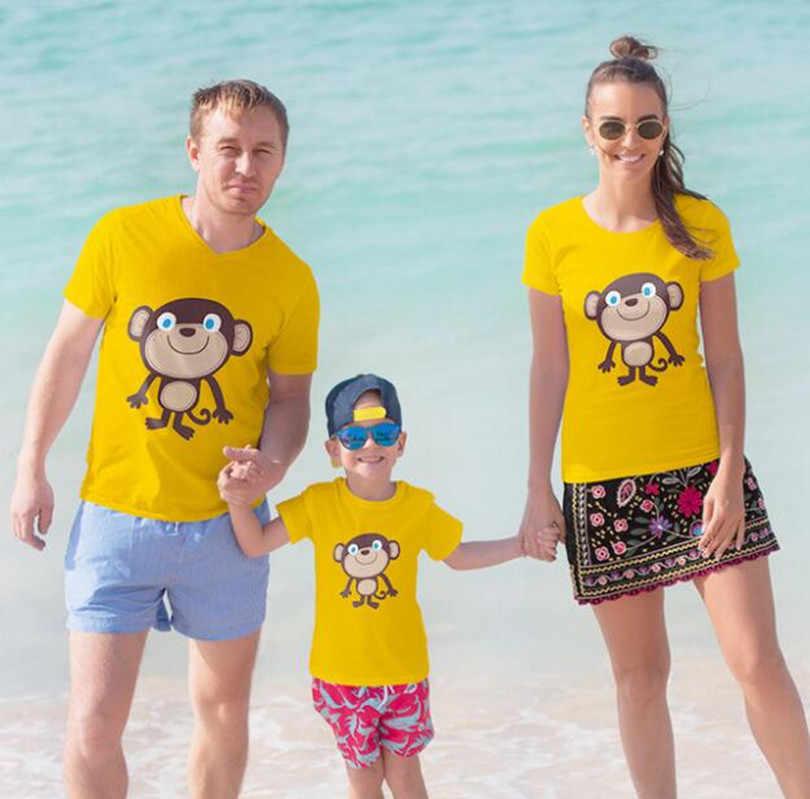 Keluarga Pencocokan Pakaian Keluarga Terlihat Putri Putri Ayah Anak Anak T-shirt Hiu Mommy dan Saya Pakaian Ibu Tshirts