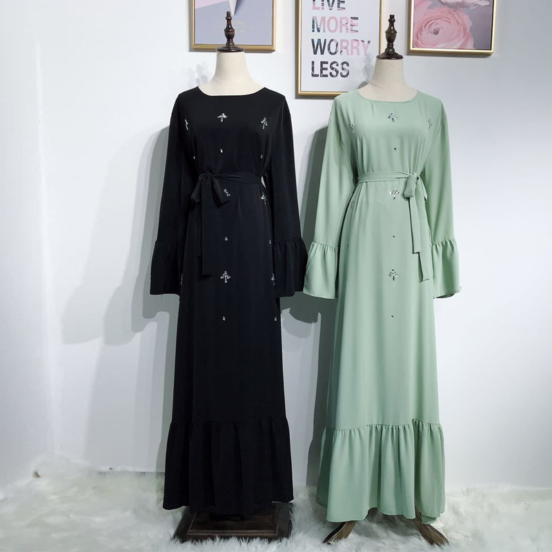2019 Abaya Dubai Kaftan Muslim Hijab Dress Abayas For Women Caftan Robe Arabe Musulmane Femme Elbise Turkish Islamic Clothing