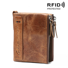 New Luxury Guaranteed Genuine Leather Brand Men Wallets Design Short Small Wallets Male Mens Purses Card Holder Carteras