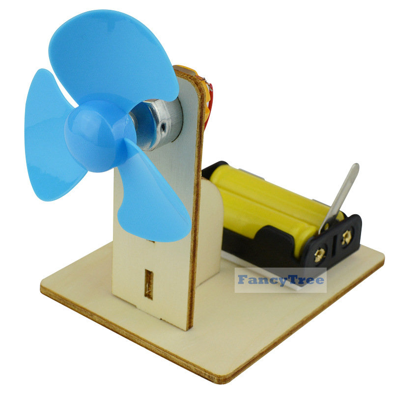 Science Elementary Education Toys DIY Electric Fan Experiment Model Physics for Kids Homemade School Manual Invention Assembled