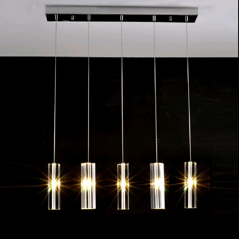 Modern Crystal Rod Dining Iron Table Lamp Pendant Lights Kitchen Lamps LED Light Rectangular Lighting Lampe Dining Bar Deco rectangular dining room pendant lights european style led crystal pendant lights modern restaurant lamp bar cafe creative lamps