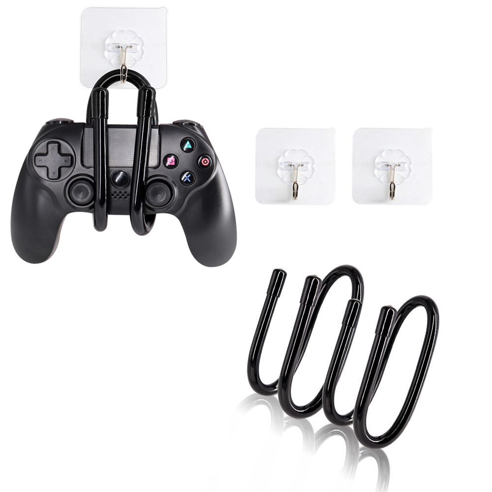 2pcs/lot Game Controller Hanger Space Saving Wall Hooking Hook Holder Support For Nintend Switch NS Pro Headphones PS4 Xbox One