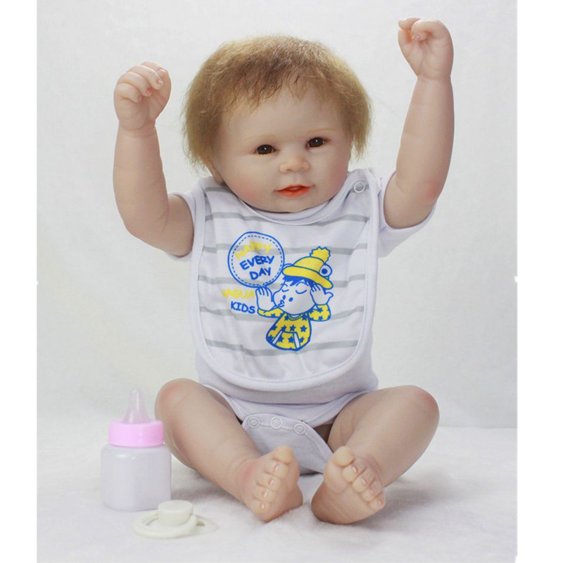 New 55cm Doll Reborn Babies Full Body Silicone Reborn Girl Baby Doll Lifelike Newborn birthday Present Gift Juguetes Brinquedos 16 inch silicone reborn babies reborn doll cute full silicone baby doll for children girl birthday gift