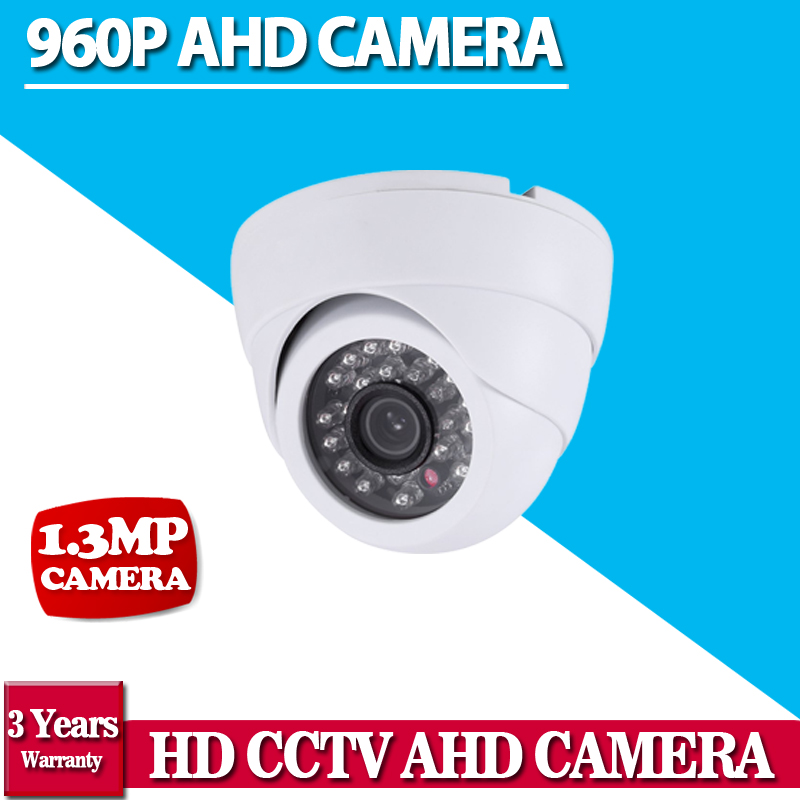 White Dome1.3MP CMOS 2500TVL CCTV Security HD AHD Camera 3.6mm Lens IR-CUT 24 IR Leds Night Vision Indoor Outdoor Camera hd 1 3 1000tvl ir color cctv outdoor security cmos waterproof dome camera 24 ir leds night vision