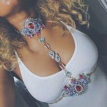 Dvacaman Marca 2016 Hecho A Mano DIY Cuerpo Boho Larga Colorida Crystal Collar y Colgante de Cadena de Las Mujeres Beach Sexy Bikini Body Joyería V54