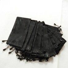 10ピース/ロットメガネケースソフト防水布サングラスバッグメガネポーチブラックカラーアイウェアアクセサリー