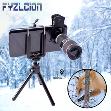 universal 18x Zoom Telescope Mobile Phone Lens Samsung iPhone Smart Clip With Tripod Camera