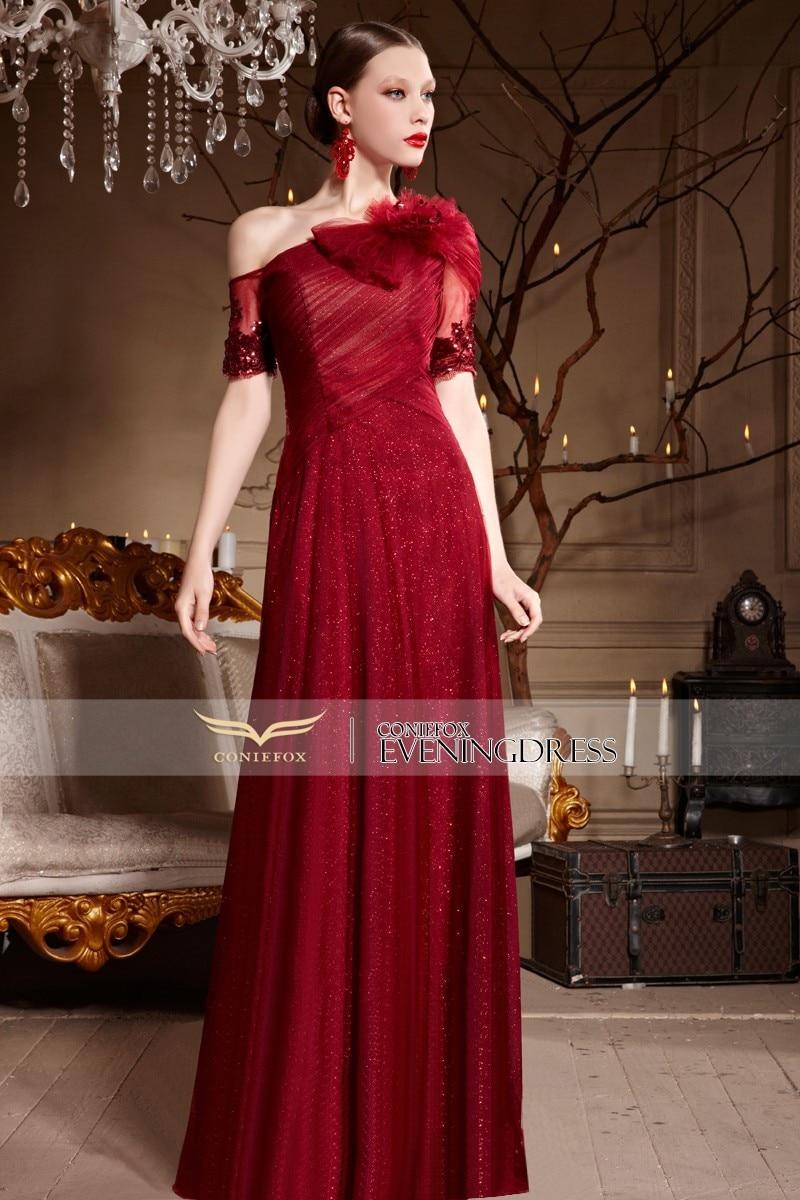 Coniefox 30632 vestidos largos noche 2015 New Red Plus Size Long ...