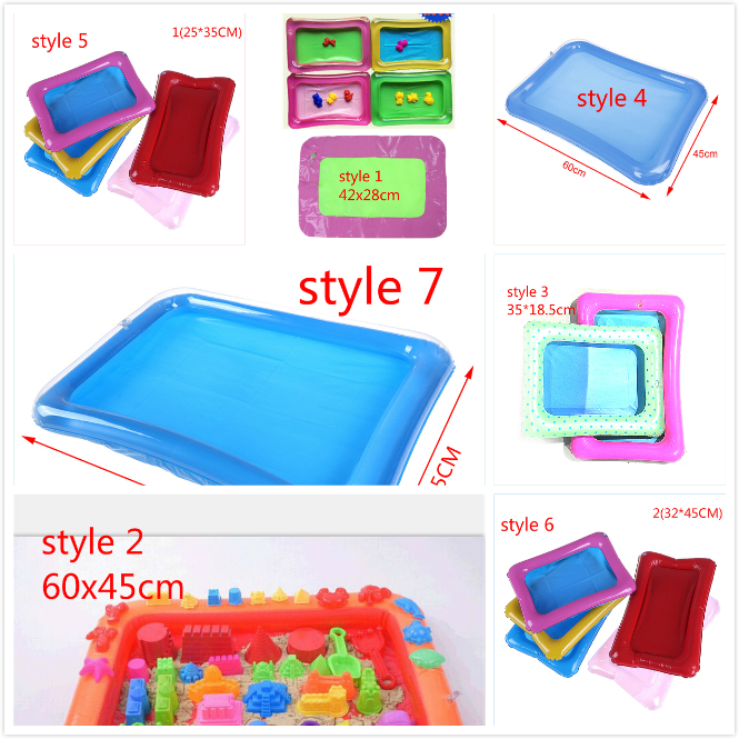 7styles  Indoor Inflatable Accessories Plastic Mobile Table Magic Play Sand Children Toys Dynamic Sand TraySpace