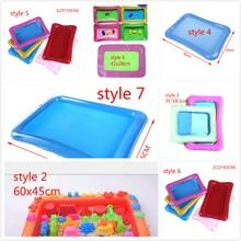 7 стилей Крытый надувные аксессуары пластиковый мобильный стол волшебный игровой песок детские игрушки динамический песок трайспейс
