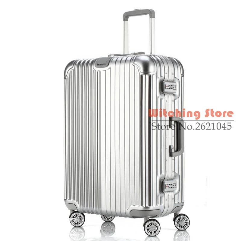 26 INCH 20242629 direct aluminum frame rod universal wheel font b luggage b font suitcase board