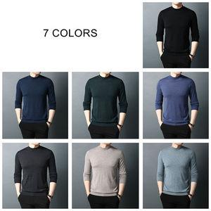 Image 4 - COODRONY ブランドセーター男性秋冬タートルネックウールセーターの古典的な純粋な色プルオーバー男性暖かいニットプルオム 91066