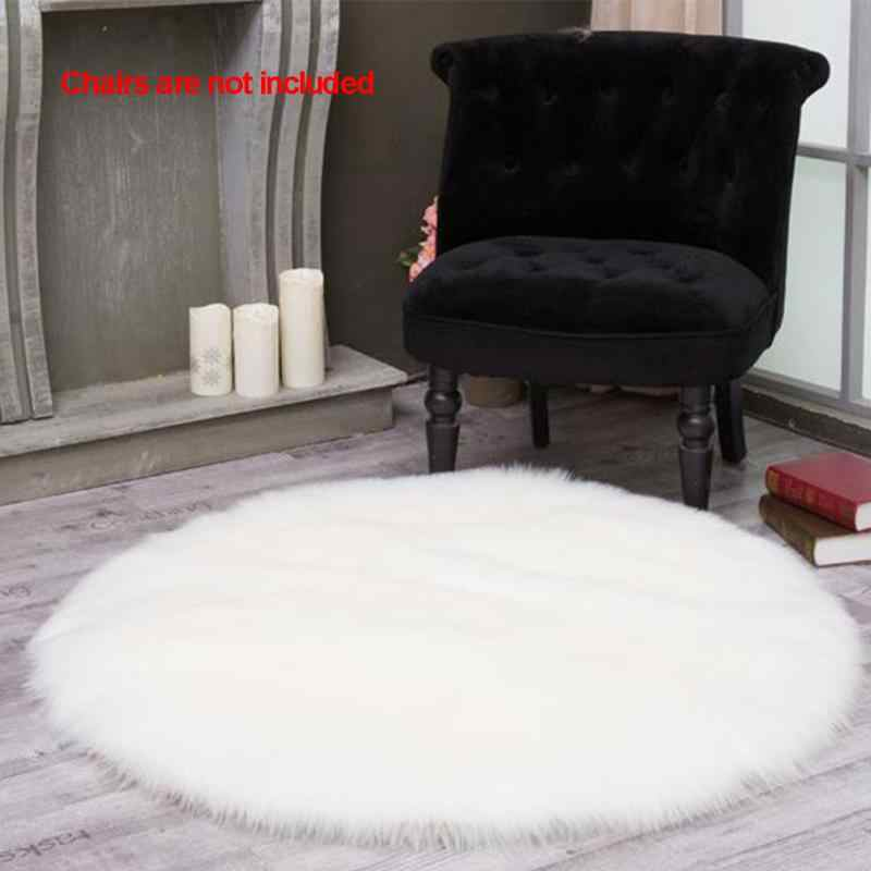 Power Source 60x40cm Super Soft Faux Sheepskin Washable Carpet Warm Hairy Seat Pad Fluffy Rugs Faux Fur Mats For Floor Chairs Sofas Cushions