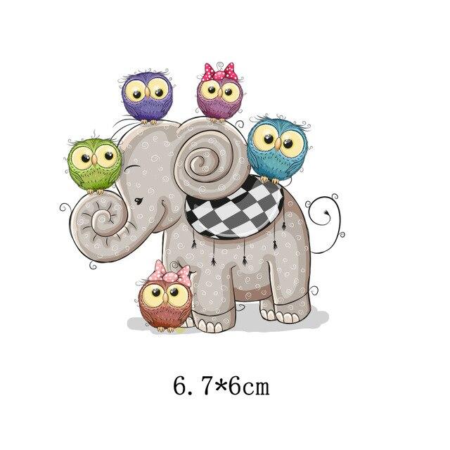 Милый мультфильм животных Комбинации гладить на патч ручной работы термоприклеивание, наклейки для Костюмы значки аппликаций для украшения из ткани - Цвет: J-61-34