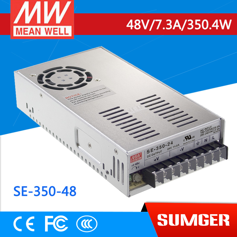 [NC-C] MEAN WELL original SE-350-48 48V 7.3A meanwell SE-350 48V 350.4W Single Output Switching Power Supply original meanwell nes 350 48 ac to dc single output 350w 7 3a 48v mean well power supply nes 350