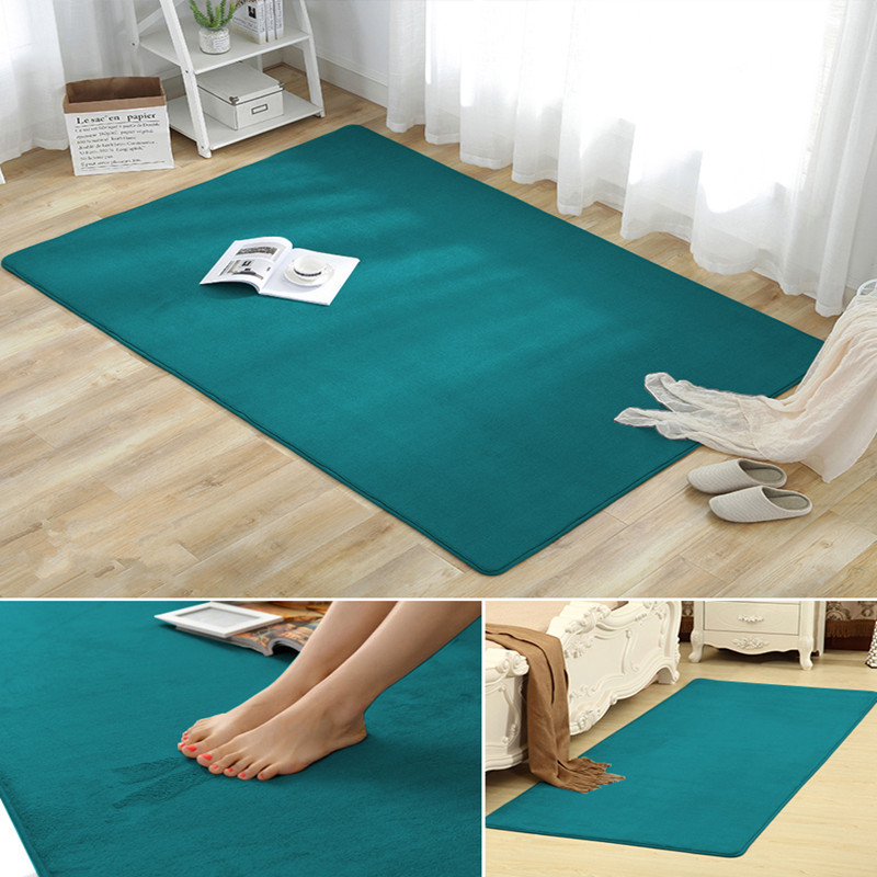 European Coral Fleece Carpet Living Room Bedroom Coffee Table Sofa Bathroom Bedside Carpet Mats Tatami Yoga Blanket Baby Rug