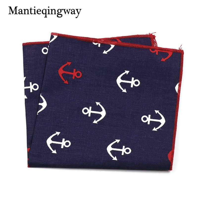 Fashion Casual Business Suit Pocket Hanky Paisley Handkerchief For Mens Cotton Printing Chest Towel Pocket Square Towel