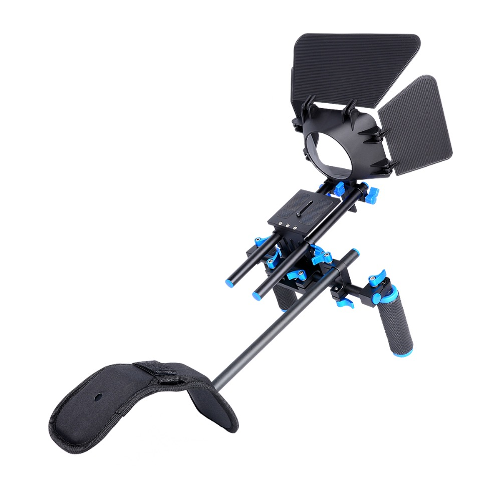 YELANGU D112 DSLR Camera Shoulder Support Mount Rig With Matte Box ylg0102h dslr shoulder mount support rig double hand handgrip holder set for all video cameras and dv camcorders