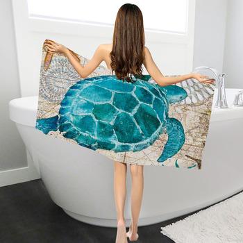Ręcznik kąpielowy z mikrofibry wieloryb żółw ręcznik kąpielowy ręcznik do twarzy łazienka domu dla dzieci dorosłych Toalla twarzy Visage serwetka Toalha tanie i dobre opinie Zestaw ręczników Tkanina z mikrofibry Sprężone Quick-dry Można prać w pralce Drukowane Zwykły Tkane 11 s-15 s Geometryczne