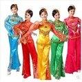 Mulheres trajes de Dança Do Leque De Dança Folclórica Traje Plus Size 3xl, Vestido Tradicional chinês Antigo, Chinês Yangko Dança estágio roupas