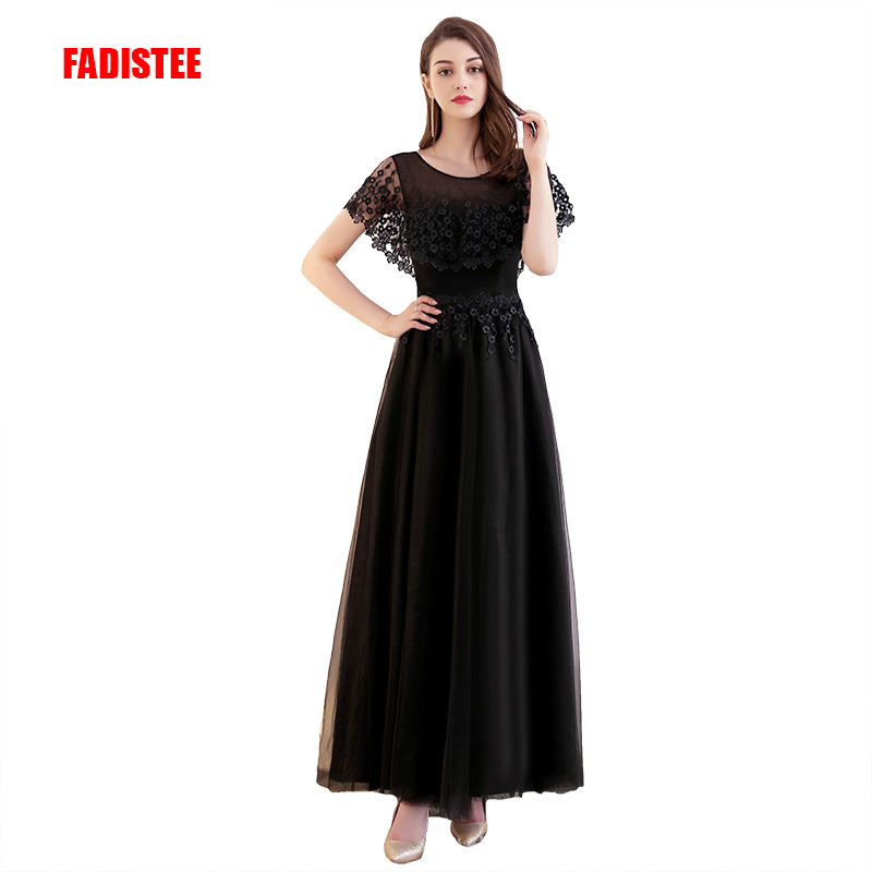 FADISTEE Hot sale elegant evening dresses prom formal dress vestidos de festa appliques lace long style