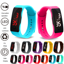 цены Relogio Bracelet Watch Kids Watches LED Digital Sports Wrist Watches For Children Boys Girls Electronic Date Clock montre enfant