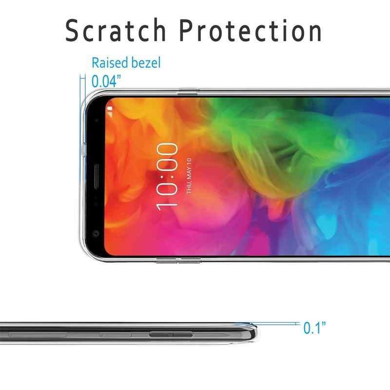 Прозрачный чехол для телефона для LG Q7 Q6 G6 G4 V30 V20 V40 G5 SE G7 K11 K8 K4 плюс альфа Dual принципиально мягкий гелевый термополиуретановый силиконовый чехол