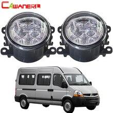 Cawanerl 2 шт. автомобиля светодиодный лампы передние противотуманные светлый Ангел глаз DRL дневного света 12 В Стайлинг для Renault master II 1998-2010