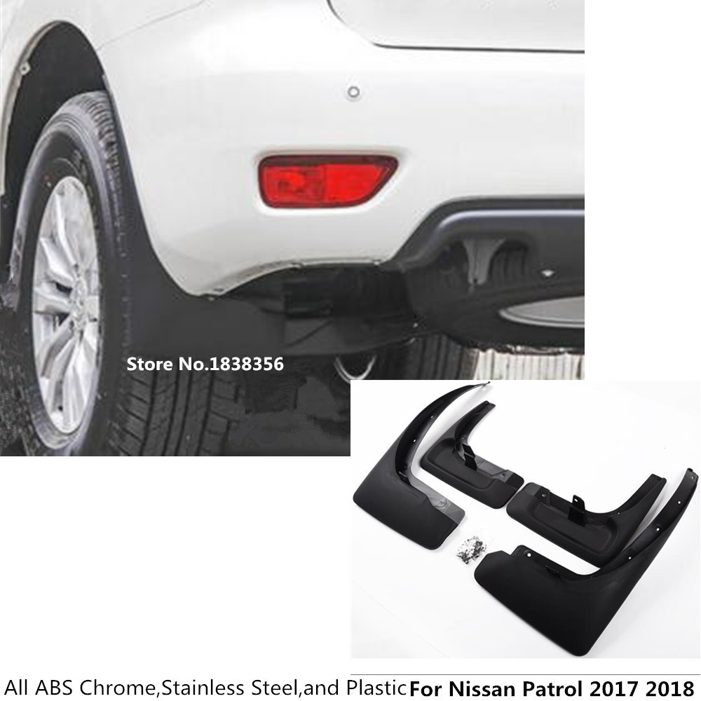 Ultra Soft Car Fender Covers: For Nissan Patrol 2017 2018 Car Cover Body Styling Plastic