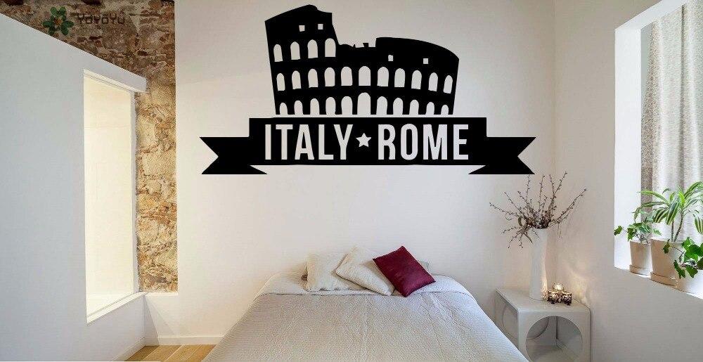 Yoyoyu Wandtattoo Italien Rom Wandaufkleber Vinyl Für Wohnzimmer