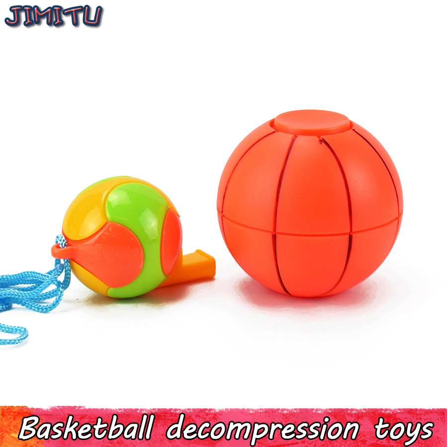 Basketball Fidget Spinner Toy for Kid Creative Cube with Whistle Stress Relief Gift for Adult Magic Funny Anti Stress Office To
