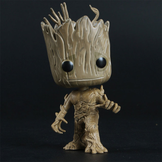14cm Galaxy Guardians Tree Man Groot Baby Sitting Collectible Toy Cartoon Mini Model Action Figure Doll Funny Toys Kids Gift