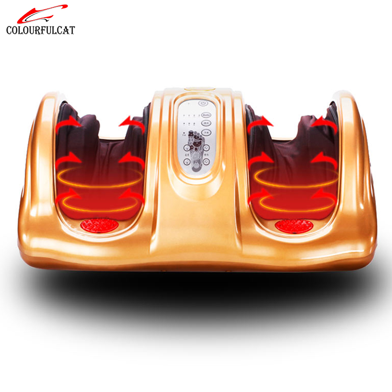 Colourfulcat Electric Foot Massager Pain Vibrator For Legs Massager For Health Infrared Foots Care Device With Heating & Therapy foot machine220v electric antistress foot massager cheap foot massage machine infrared foot care device with heating