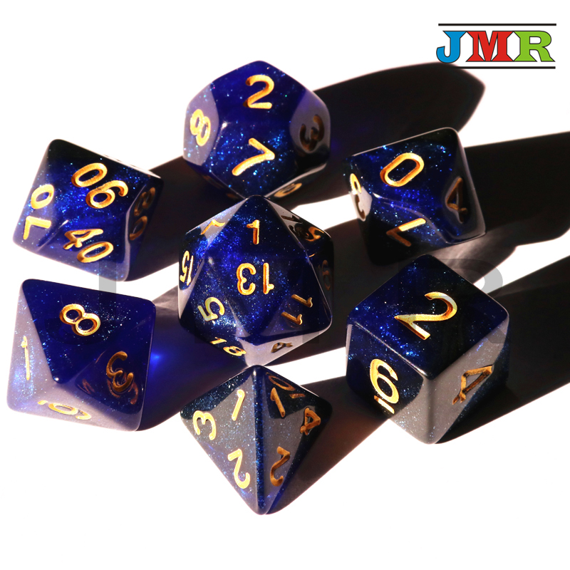 Universe Galaxy Dice Multi-Sided Dice with Dragons and Dungeons Games Dice Set, Dados Dungeons and Dragons, Gaming Cube ...