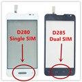 """Alta Qualidade 4.3 """"dual/único sim l65 de toque de vidro digitador da tela de toque do painel para lg l65 dual d285 d280 + logotipo do navio livre"""