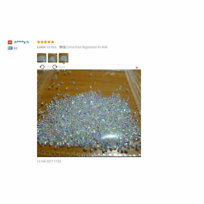 סיטונאי 1440Pcs זעיר מיני ציפורניים ריינסטון מיקרו יהלומים 3D נייל אמנות גליטר Rhinestones קישוטי קריסטל אבזרים