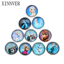 10pcs/lot 18mm Fashion Buttons Jewelrys Glass Cabochon Xinnver Snaps Fit Snaps Bracelets Jewelry or necklace For Women ZB333