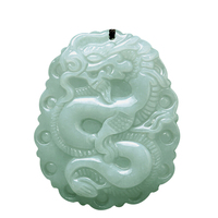 Natural jadeite Dragon brand lace jade pendant zodiac dragon transshipment Yu Pei jade pendant necklace for women and men