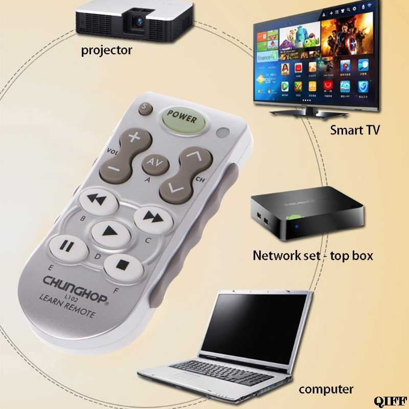 Drop Ship&Wholesale L102 Universal Learning Function Remote Control For TV SAT DVD CBL CD DVB-T Audio APR28
