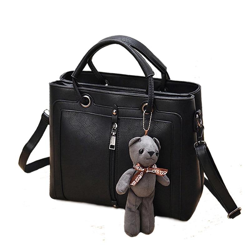 Trendy Front Center Zipper Ornament Women font b Handbag b font Gorgeous Classy Large Hand Bag