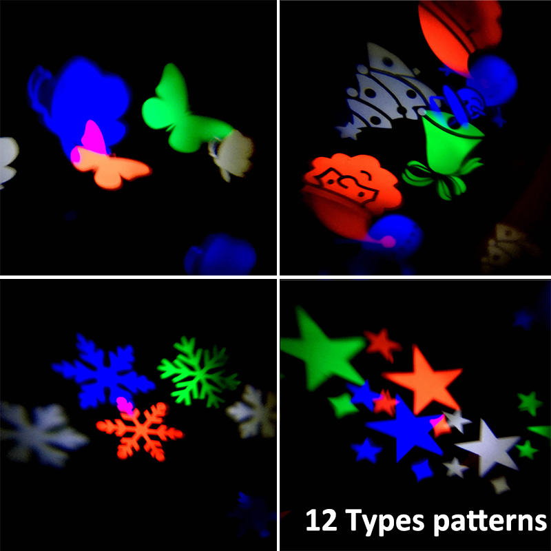 oobest Christmas Laser Snowflake Projector Lamp Waterproof Outdoor LED Stage Lights Fairy light Chrismas Decoration for home