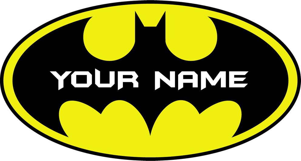 Custom Names Personalised BATMAN LOGO Decal Removable WALL