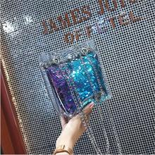 Hot! 2018 Women Messenger Bags Fashion Mini Bag With Chain Women Shoulder Bags handbag Jelly bag with Spangles ladies party..... недорого