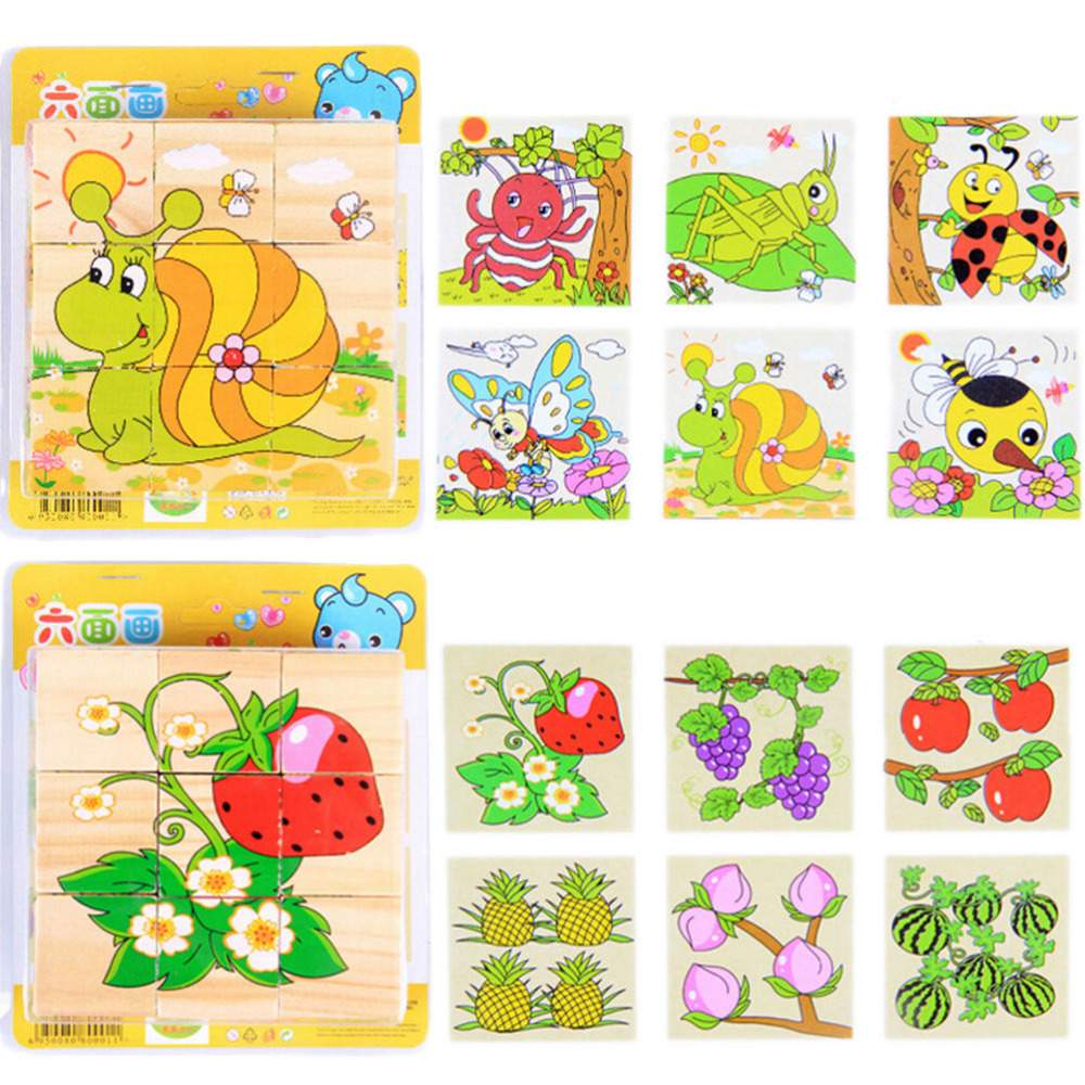 Uncategorized Child Puzzles child and baby toys for children puzzles early learning toy six face painting building 3d animal fruit puzzle in from t