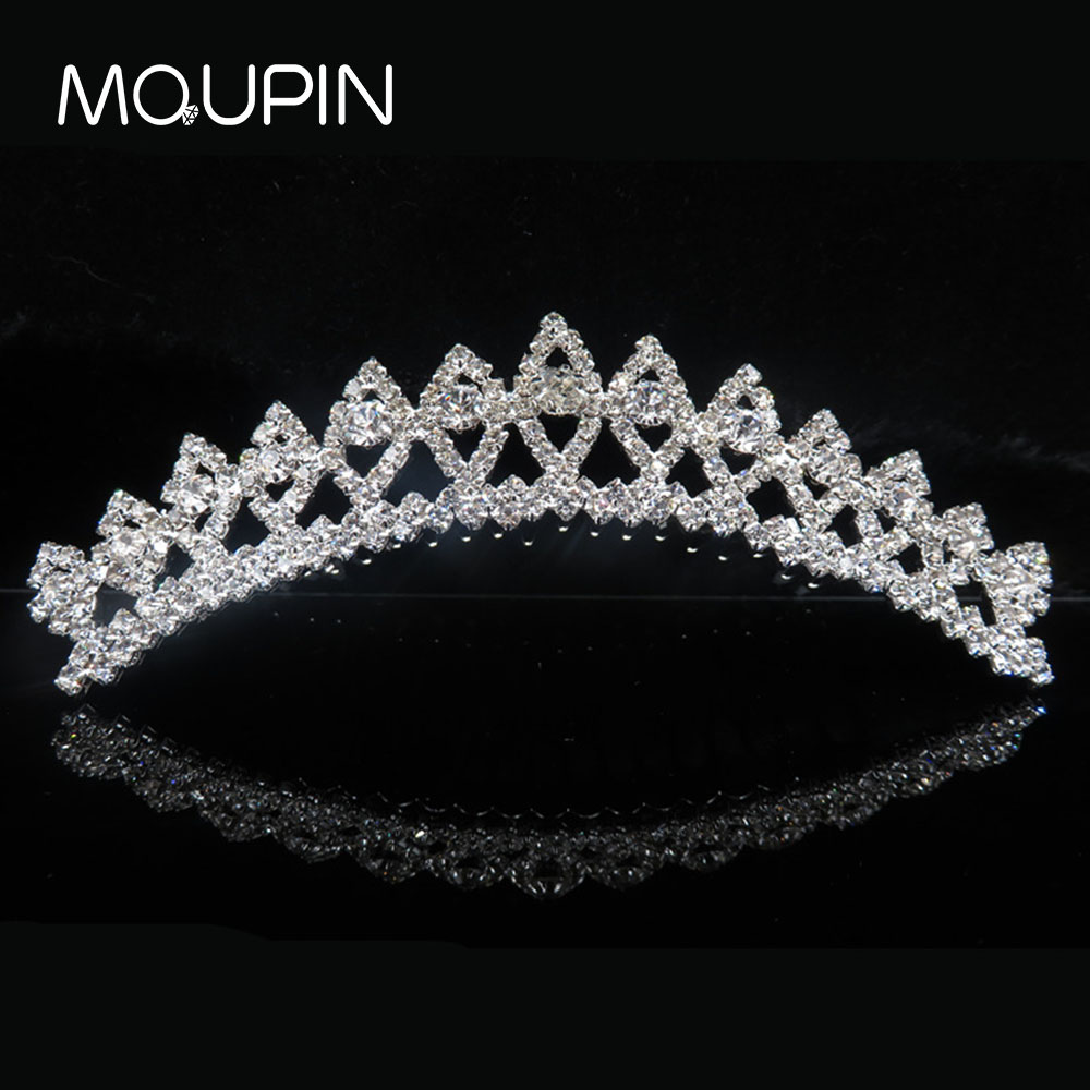 MQUPIN Princess Crown Headband Crystal Hairwear Queen Stylish Wedding Hairband Women Headwear Hair Band Jewelry Accessories