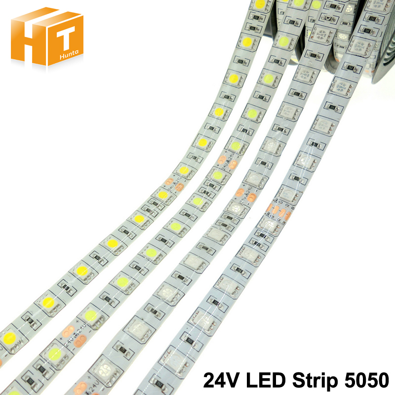 DC24V LED Strip 5050 Flexible LED Light RGB RGBW White Warm White Waterproof LED Strip 60LEDs m 5m lot