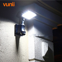 Yunji Waterproof 20 LED Security Solar Light or DC Input Charge PIR Motion Sensor Light Wall Lamp for Path Stairs Garden Outdoor
