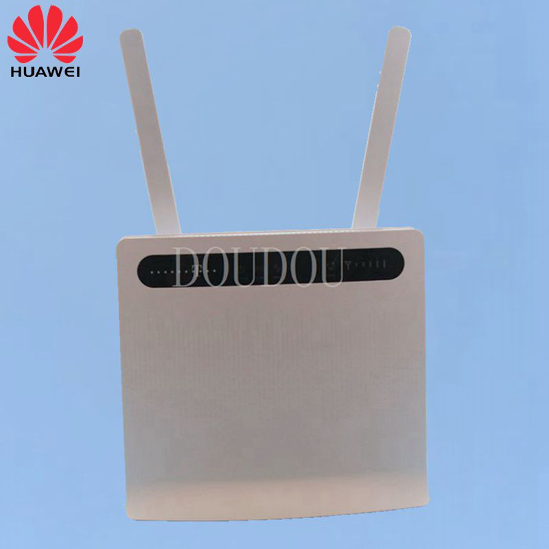 Unlocked Huawei B593 B593s-12 Plus Antenna 4G LTE 100Mbps CPE Router with Sim CardSlot 4G LTE WiFi Router with 4 Lan Port PKB310