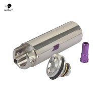 SHS Tune Up Kit Stainless Steel CNC Milled One Piece Solid Cylinder Built in Cylinder Head Piston Head Nozzle Airsoft Paintball