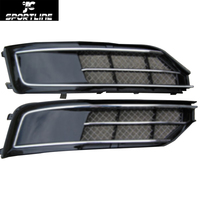 Car Styling ABS Front Bumper Fog Lamps Light Covers Fit For Audi A8 2015 2016